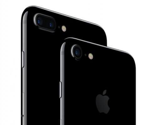De iPhone 7 en de iPhone 7 plus gitzwart