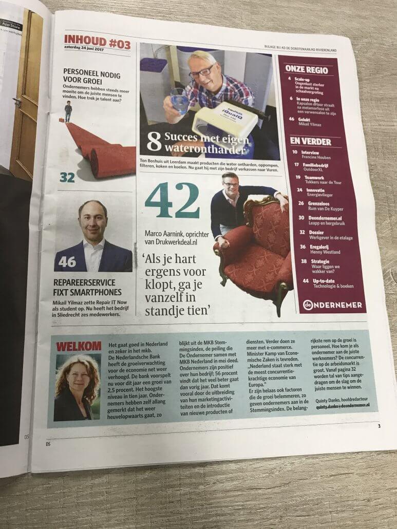 Algemeen Dagblad inhoudsopgave 24-6-2017 Repair IT Now