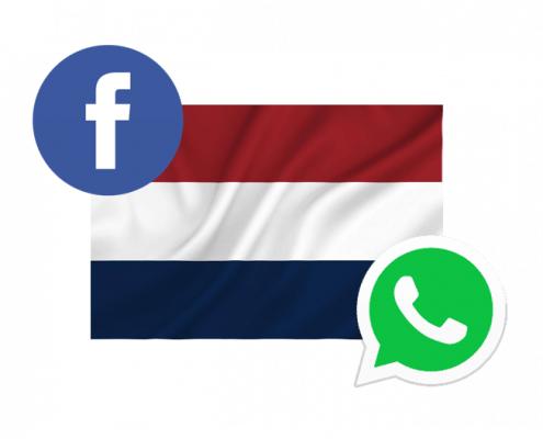 Nederlanders gebruiken Whatsapp meer dan Facebook
