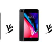 verglijking van de iPhone X vs iPhone 8 plus vs iPhone 8