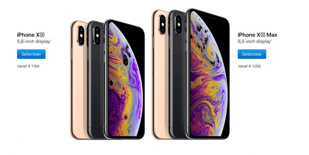 Wat zijn de grootste verschillen tussen de iPhone XS en de iPhone XS Max